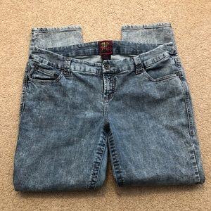 Torrid Bleach Style Skinny Ankle Jeans
